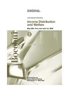 Income Distribution and Welfare