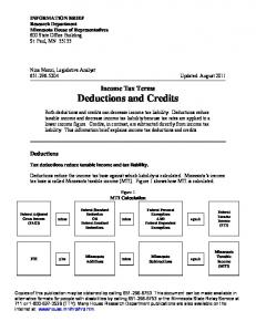 Income Tax Terms Deductions and Credits