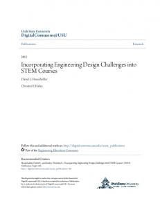 Incorporating Engineering Design Challenges into STEM Courses