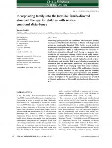 Incorporating family into the formula: family-directed structural therapy for children with serious emotional disturbancecfs_
