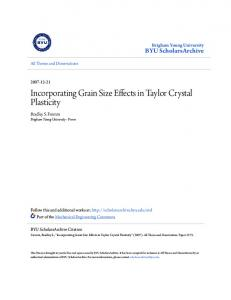 Incorporating Grain Size Effects in Taylor Crystal Plasticity