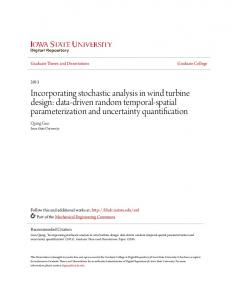 Incorporating stochastic analysis in wind turbine design: data-driven random temporal-spatial parameterization and uncertainty quantification