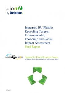Increased EU Plastics Recycling Targets: Environmental, Economic and Social Impact Assessment Final Report