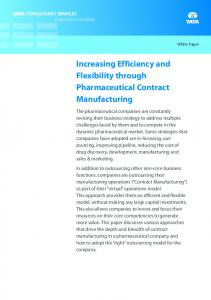 Increasing Efficiency and Flexibility through Pharmaceutical Contract Manufacturing
