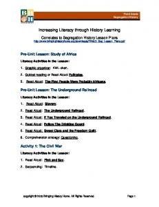 Increasing Literacy through History Learning