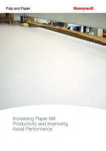 Increasing Paper Mill Productivity and Improving Asset Performance