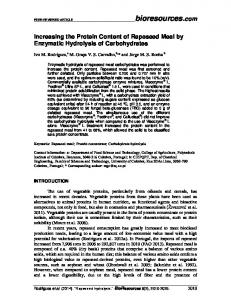 Increasing the Protein Content of Rapeseed Meal by Enzymatic Hydrolysis of Carbohydrates