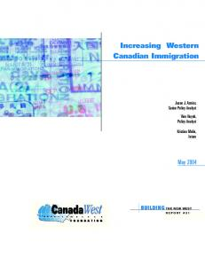 Increasing Western Canadian Immigration
