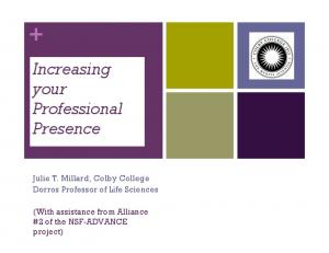 Increasing your Professional Presence