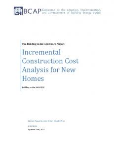 Incremental Construction Cost Analysis for New Homes