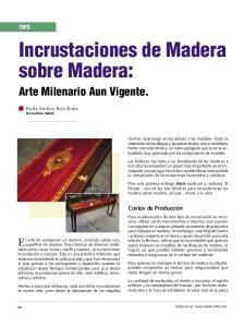 Incrustaciones de Madera sobre Madera: