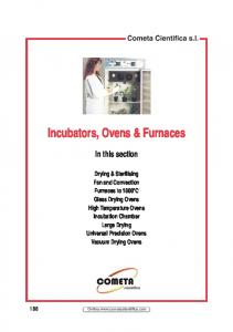 Incubators, Ovens & Furnaces