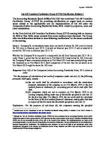 Ind AS Transition Facilitation Group (ITFG) Clarification Bulletin 1