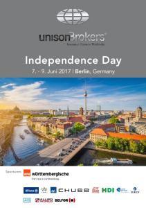 Independence Day Juni 2017 Berlin, Germany. Sponsoren: