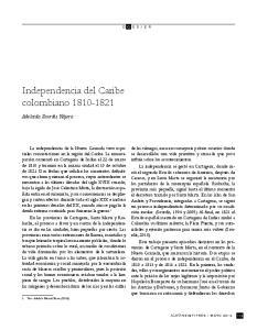 Independencia del Caribe colombiano