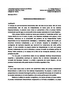 INDEPENDENCIAS IBEROAMERICANAS 1