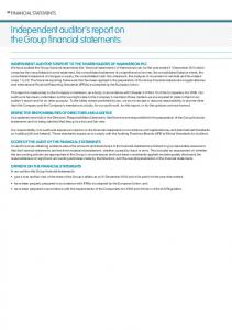 independent auditor s report on the Group financial statements