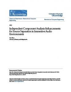 Independent Component Analysis Enhancements for Source Separation in Immersive Audio Environments