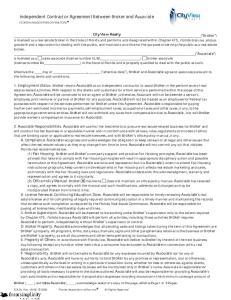 Independent Contractor Agreement Between Broker and Associate