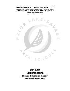 INDEPENDENT SCHOOL DISTRICT 719 PRIOR LAKE-SAVAGE AREA SCHOOLS PRIOR LAKE, MINNESOTA