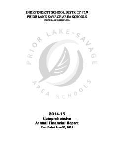 INDEPENDENT SCHOOL DISTRICT 719 PRIOR LAKE SAVAGE AREA SCHOOLS PRIOR LAKE, MINNESOTA