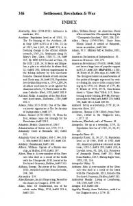 INDEX. 346 Settlement, Revolution & War