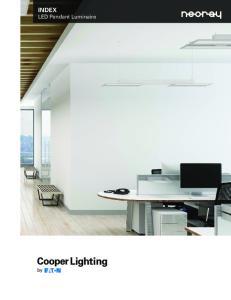 INDEX LED Pendant Luminaire