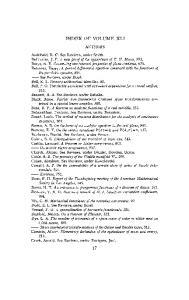 INDEX OF VOLUME XLI AUTHORS