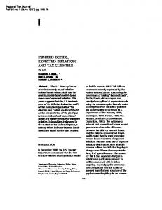 INDEXED BONDS, EXPECTED INFLATION, AND TAX CLIENTELE BIAS DAVID N. F. BELL,