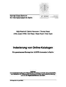 Indexierung von Online-Katalogen