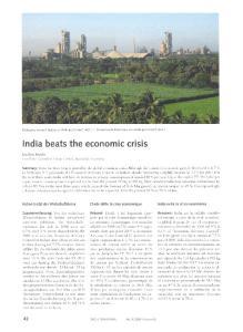 India beats the economic crisis
