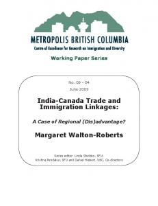 India-Canada Trade and Immigration Linkages: