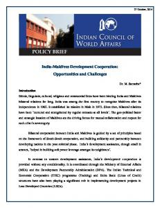 India-Maldives Development Cooperation: Opportunities and Challenges