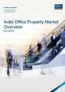 India Office Property Market Overview Q3 2016