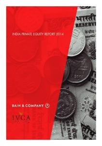 INDIA PRIVATE EQUITY REPORT 2014