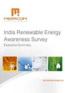 India Renewable Energy Awareness Survey