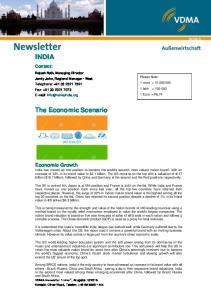 INDIA. The Economic Scenario