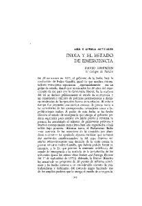 INDIA Y EL ESTADO DE EMERGENCIA