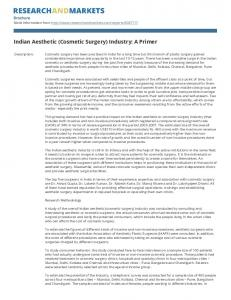 Indian Aesthetic (Cosmetic Surgery) Industry: A Primer