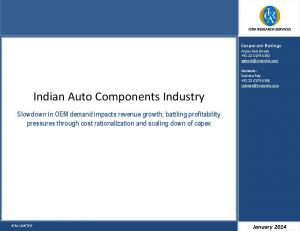 Indian Auto Components Industry