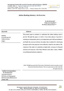 Indian Banking Industry- An Overview