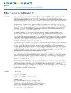 Indian Footwear Market Forecast 2014