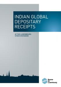 indian GLOBAL depositary At the Luxembourg Stock Exchange