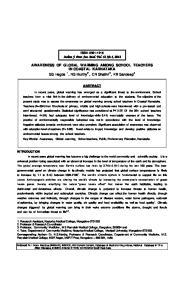 Indian J. Prev. Soc. Med. Vol. 43 No.4, 2012
