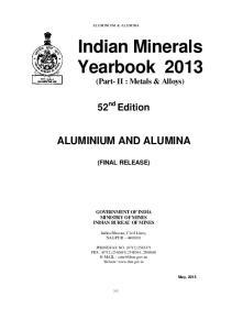 Indian Minerals Yearbook 2013 (Part- II : Metals & Alloys)