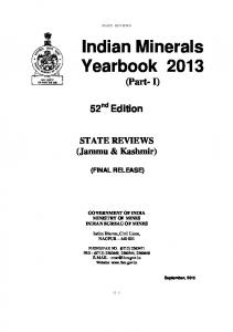 Indian Minerals Yearbook 2013