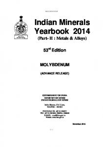 Indian Minerals Yearbook 2014
