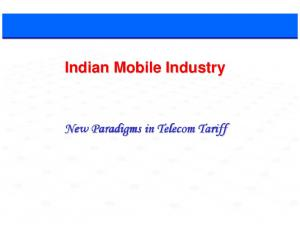 Indian Mobile Industry