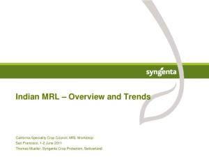 Indian MRL Overview and Trends