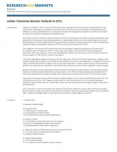 Indian Television Market Outlook to 2015